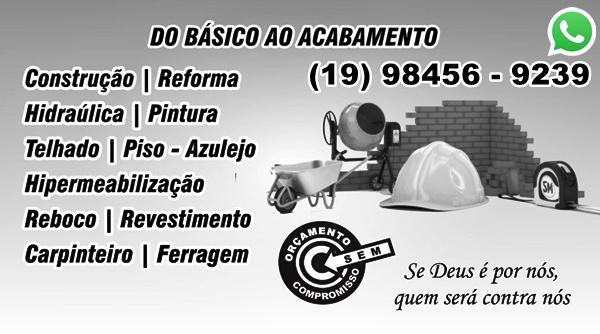 Pedreiro em Campinas, para serviços da construção civil
